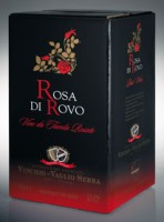 ROSA di ROVO Brachetto e Moscato nero Bag in box van 10 liter (is gelijk aan 13,3 flessen!!)
